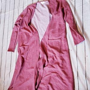 Lularoe Sarah Cardigan Size Large Pink & Pockets